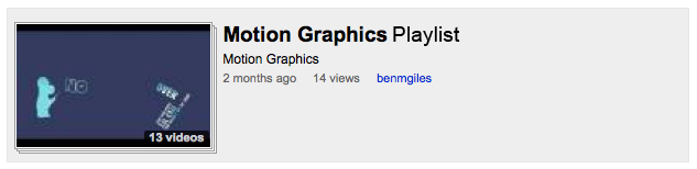 Motion Graphics YouTube Playlist